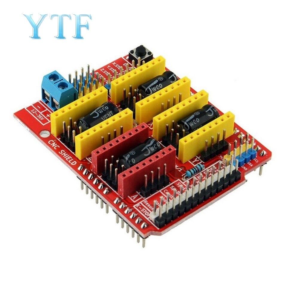 Части 3D принтера A4988 Драйвер CNC Qunqi Щит Плата расширения для V3 гравер