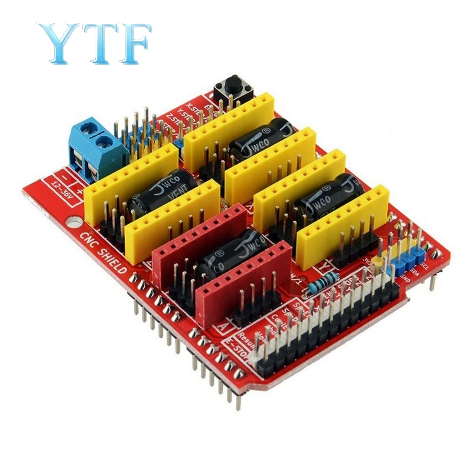 3D Printer Parts A4988 Driver CNC Qunqi Shield Expansion Board For V3 Engraver