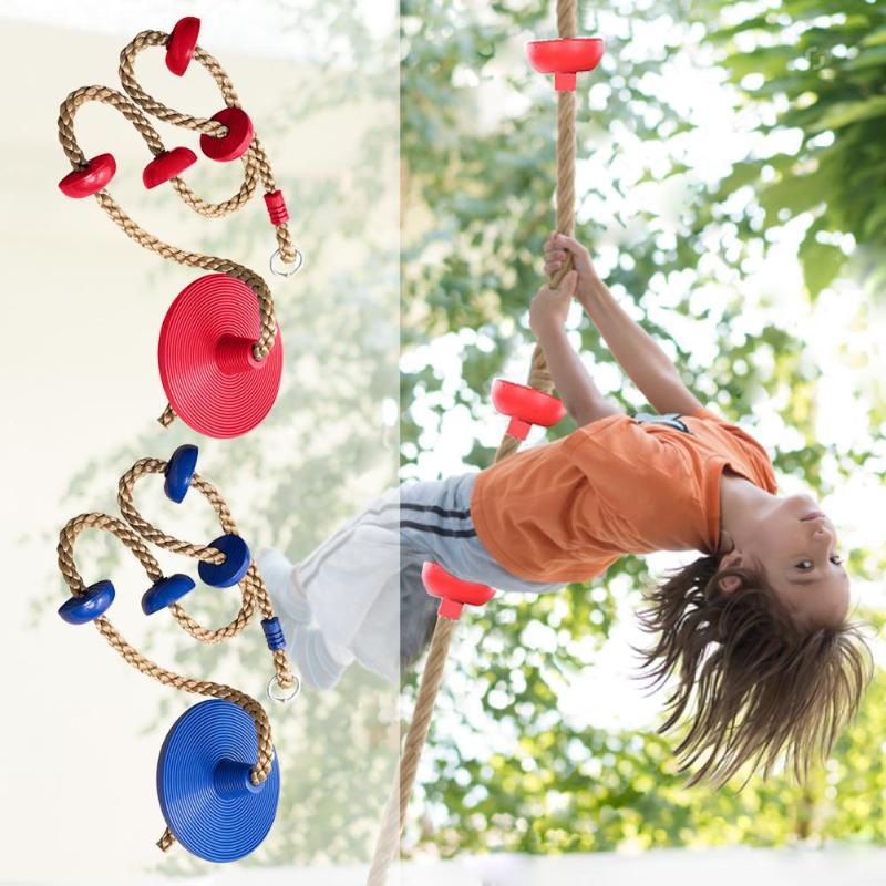 Jungle Gym escalade corde avec plates-formes et disque balançoire siège Fitness balançoire ensemble accessoires enfants balançoire siège jouet