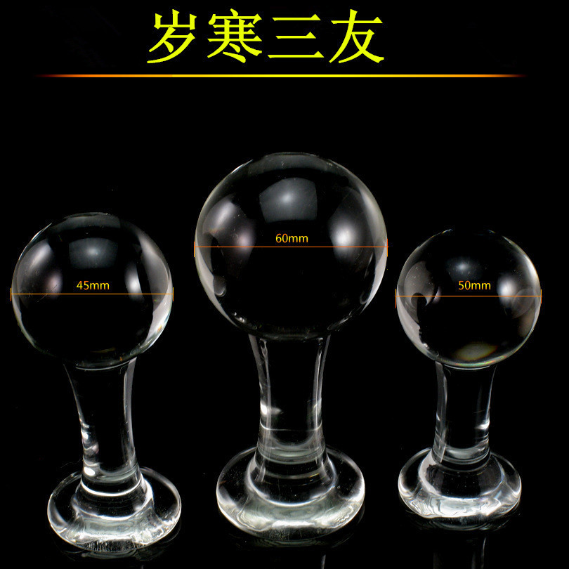 3 In 1 Set,Big Size Glass Large Butt Plug,Mooth -5939