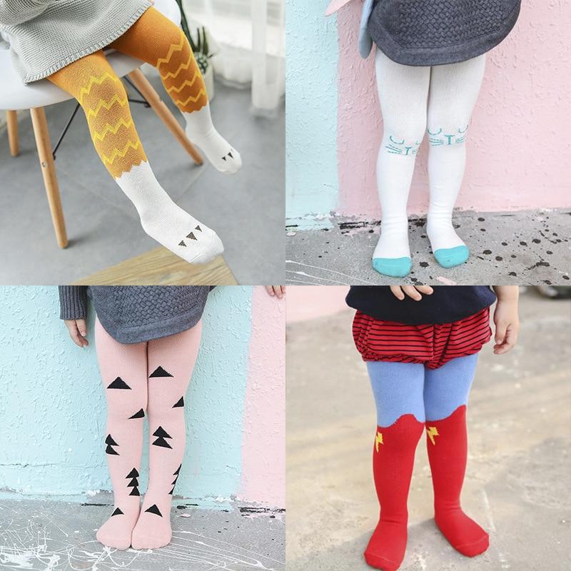 Tights Socks Stocking Pantyhose Above Knee Long Soft Cotton Warm Kid Baby Girl