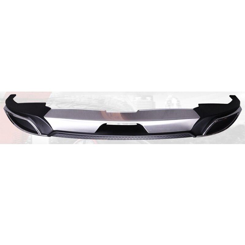 MONTFORD For Mazda 3 Axela 2014-2017 ABS Rear Bumper Diffuser Bumpers Protector Bumper Guard Protector Skid Plate Bumper Cover стоимость