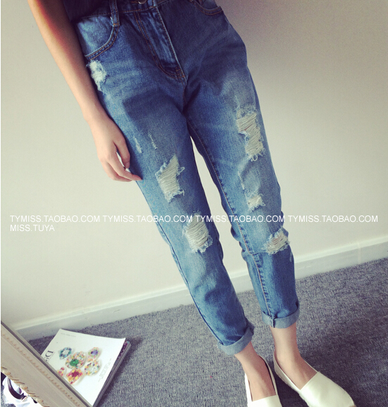 Aliexpress.com : Buy New Design Ripped Jeans Women High Street ...