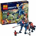 Bela nexus knights building blocks 70312 mecha de lance caballo conjunto regalos juguetes compatible con lepine caballeros robótica mindstorm