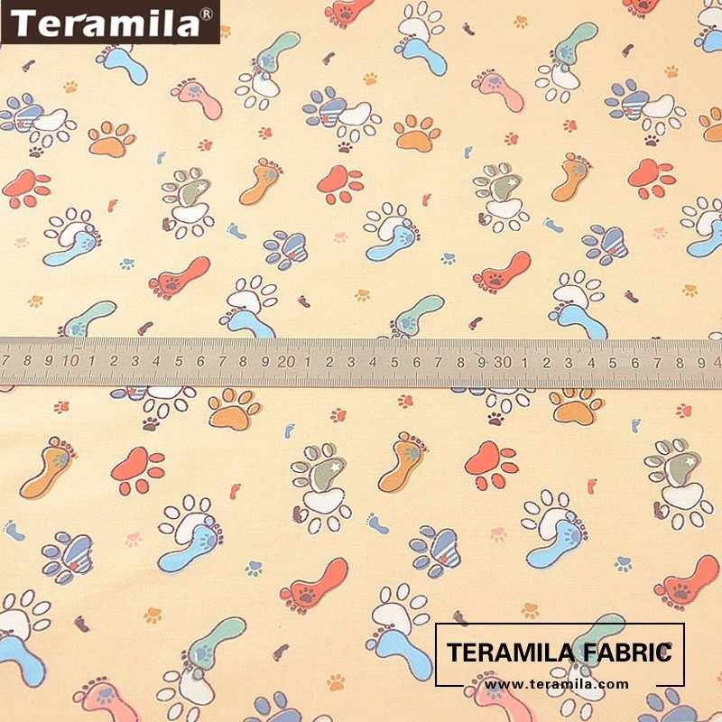 Teramila 100% coton tissu mètre Telas doux graisse quart Dense Quilting matériel dessin animé Style Twill robe bébé artisanat tissu