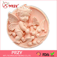 High Quality Fairy Girl Bell Silicone Handmade Fondant Mold DIY Mold Cake Decorating Tools Angel Soap