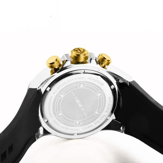 b6054e50758 Recife Tigre RT Homens Sports Quartz Relógios com Cronógrafo e Data de Aço Grande  Mostrador