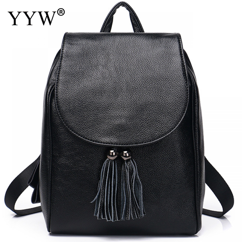 2018 Women Backpack Designer High Quality Tassel Pu Leather Women Bag Fashion School Bags Large Capacity Backpacks Travel Bags сумка tommy hilfiger aw0aw04335 002 black