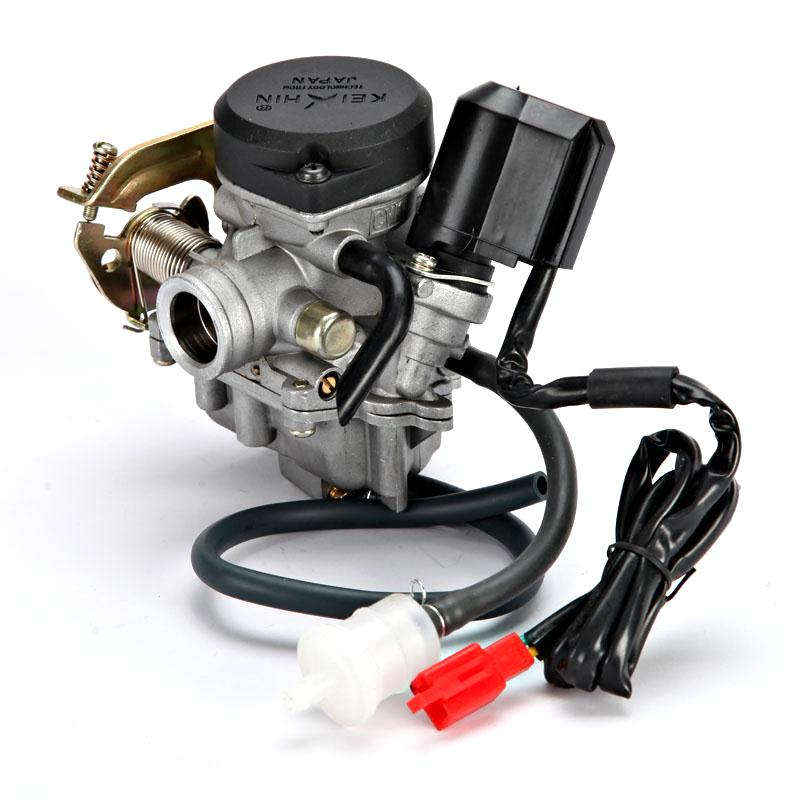 Grey Metal Motorcycle Carburetor With Fuel Filter For Gy Stroke Cc Cc Scooters Panterra Retro on 150cc Carburetor Vacuum Line Diagram