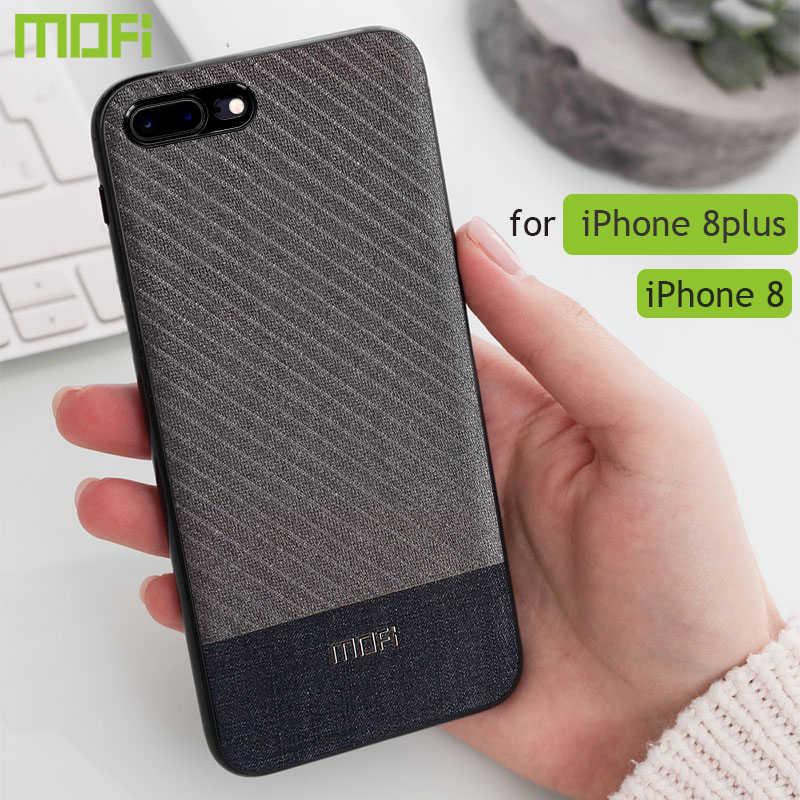 Para iphone 8 plus caso capa de tecido pano para iphone 8 caso negócios cor escura para iphone 7/7plus handcraft cavalheiro ip7 caso