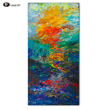 CHENFART  Decorative Pictures Oil Painting Abstract Waters Canvas Prits for Bedroom Home Decor Wall Art no Frame QK2011