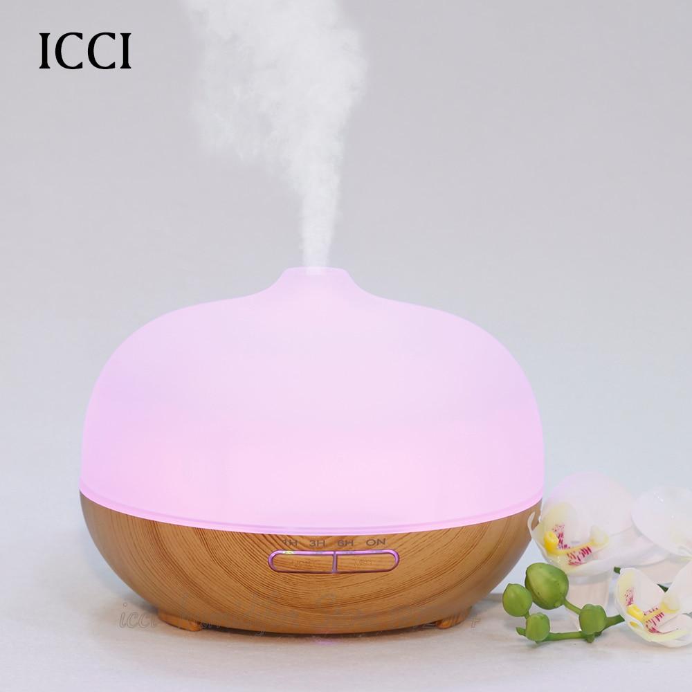 Nemlendirici Esansiyel yağı difüzör Diffuseur huile uçucu Aroma Led lamba Aroma koku yağları Ultrasonik nebulizatör