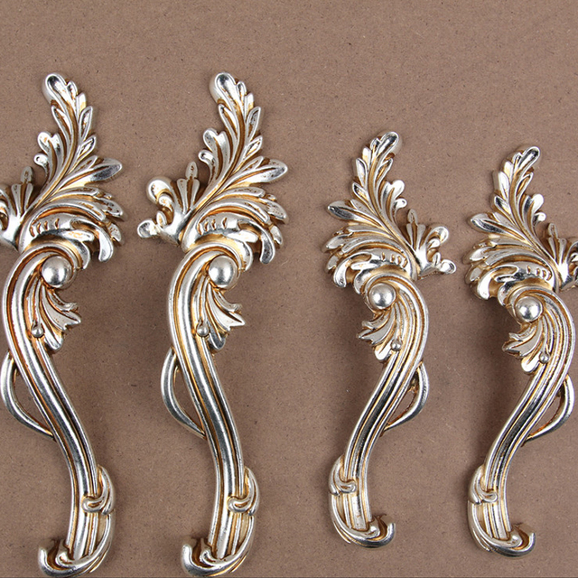 2pcs Shabby Chic Dresser Drawer Pulls Handles Antique Silver French Country Kitchen Cabinet Handle Cc 96mm 128mm