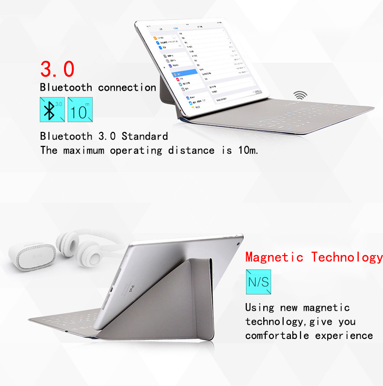 New Ultra Slim Wireless Case for Ipad 16