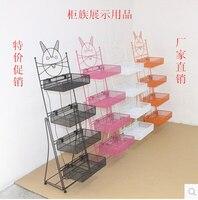 Cosmetics shelves household shelf mask exhibition of nail salons receive shelf