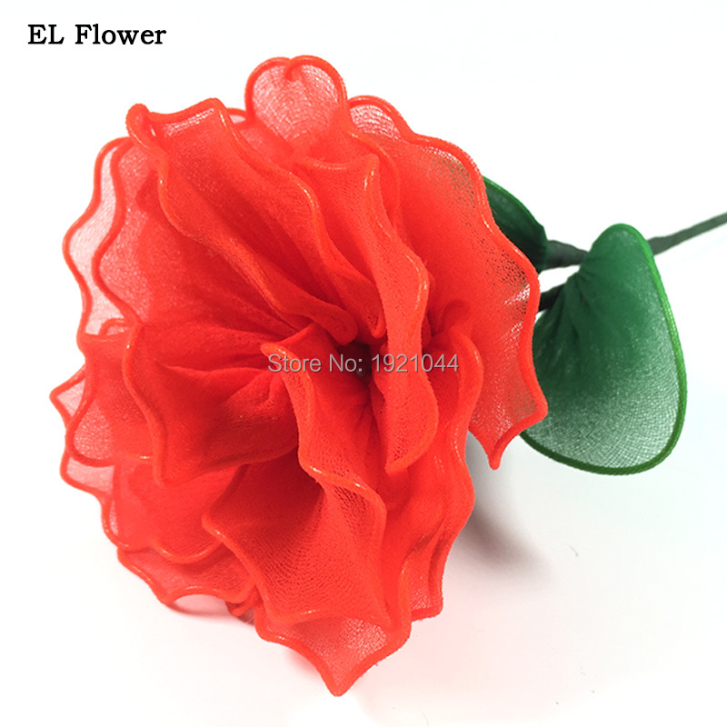2017 Newstyle DC-5V Steady on Glowing Flower EL Wire LED Flower Colorful Gift For Bright ...