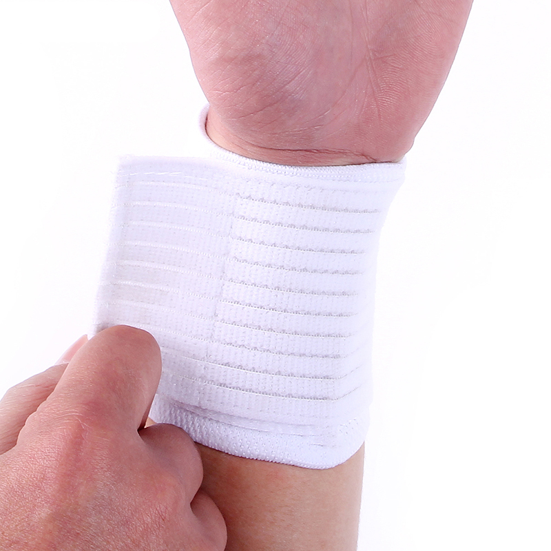 White high quality nylon spandex material  wrist bandages brace support  soft wristband free shipping #ST6802