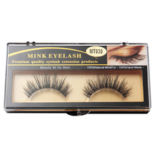 1 Pair Fashion 3D Beauty 100% Horsehair False Eyelashes Makeup Thick Long MT030 недорого