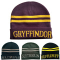 Harry Potter College Style Hats for Women Men Gryffindor Slytherin Ravenclaw Hufflepuff Caps Student Cashmere Warm Beanies Gifts