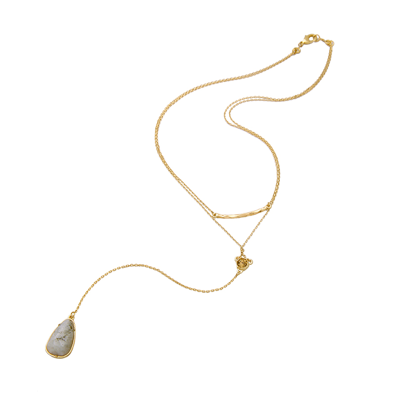Aliexpresscom Buy Gray Waterdrop Natural Stone Necklace Pendant
