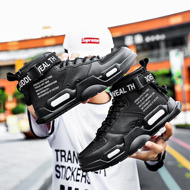 Image 5 - YRRFUOT Fashion High Top Men Shoes Trend  Hot Sale Light Sneakers High Quality Comfortable Casual men Shoes Non slip Flats Shoes-in Men's Casual Shoes from Shoes