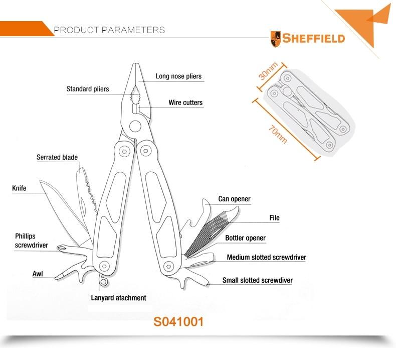 Sheffield S041001 Mini többcélú fogó, összecsukható hosszú - Kézi szerszámok - Fénykép 6