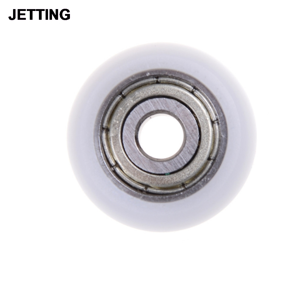 Nylon Plastic Carbon Steel Pulley Wheels Roller Groove  Bearings 5x21.5x7mm