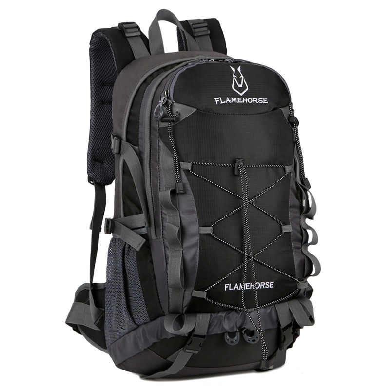 164b7f1bc2 2018 Outdoor Mountaineering Backpack 50L Men Large Capacity Climbing Bag  Unisex Travel Sports Backpack Waterproof Nylon