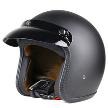 Motorcycle Helmet Retro Vintage Motorbike 3/4 Open Face Half Helmet Cruiser Touring Chopper Biker Cafe Racer Moto Helmet matte недорого