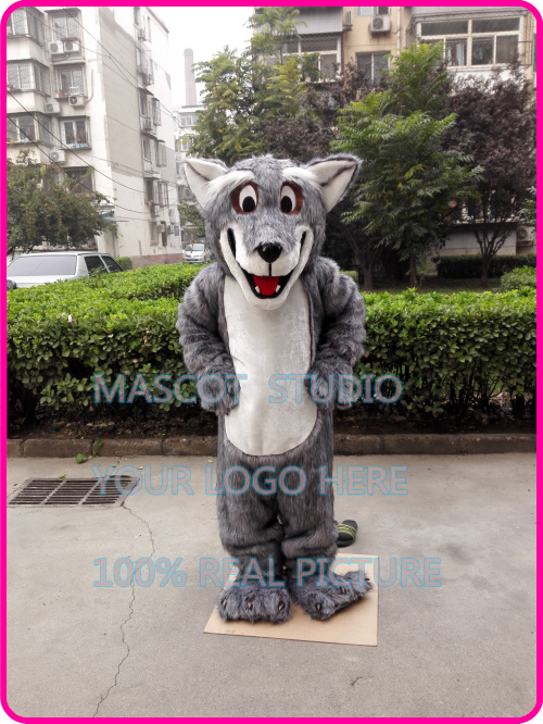 Peluche lupo Coyote lupo mannaro costume della mascotte di fantasia personalizzata costume anime cosplay kit mascotte tema vestito operato 401472