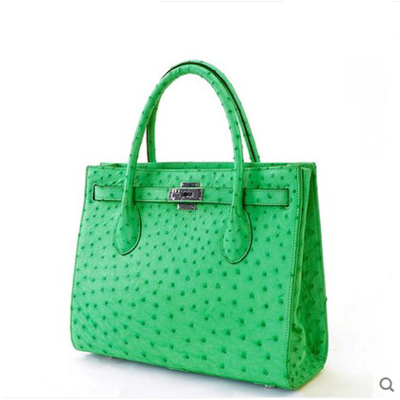 jialante ostrich leather Women's leather women handbag in Europe and America big bag democracy in america nce