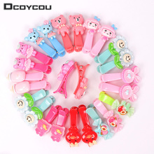 10PCS Mix Color Barrette Baby Hair Clip Cute Flower Solid Cartoon Children Hairpin Girl Women Accessories