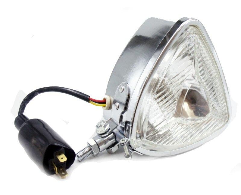 ᐊchrome Vintage Steel Amber Motorcycle ⊰ Headlight