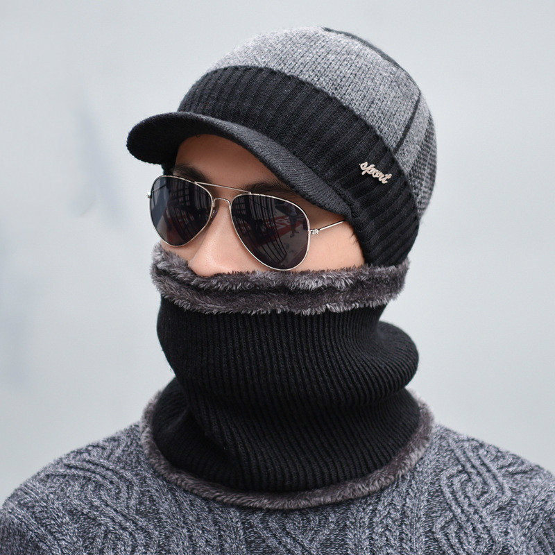 oZyc Winter Hat Skullies Beanies Hats Winter Beanies For Men Women Wool Scarf  Caps Balaclava Mask ... f17f723660f1