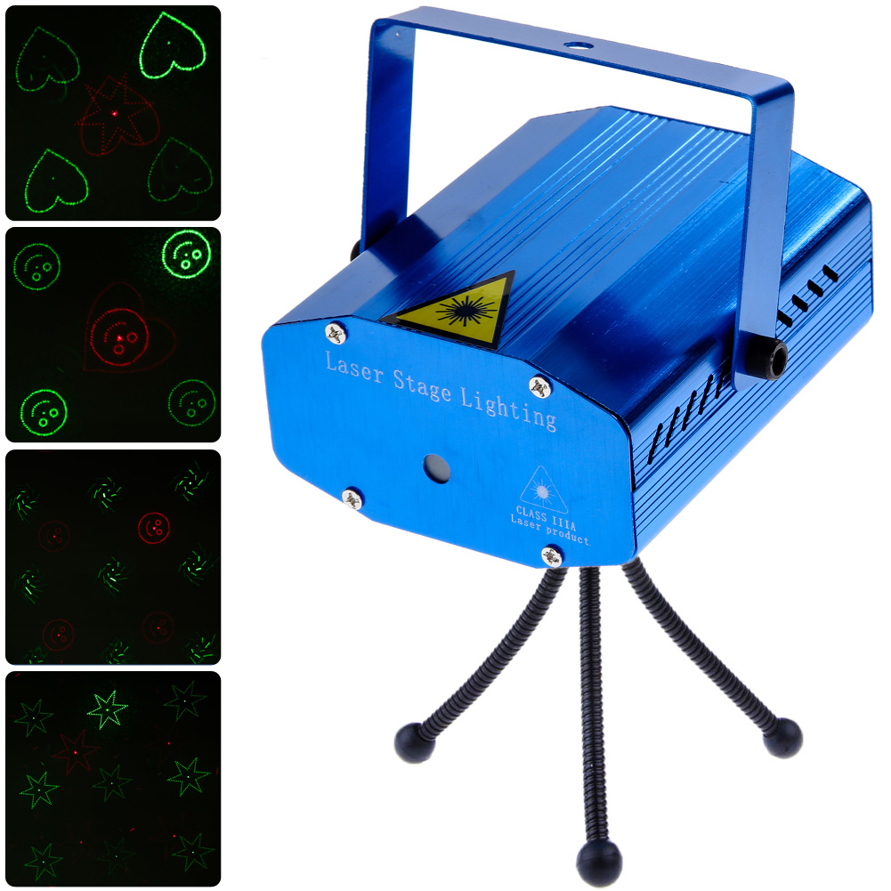 Stage Laser Light DJ Club Disco Projector Stage Laser Light Green Red Music Control Function AC 110-240V EU US Plug ac 110 240v 50 60hz full color rgb laser stage lighting red green blue led dj disco party home wedding club light us