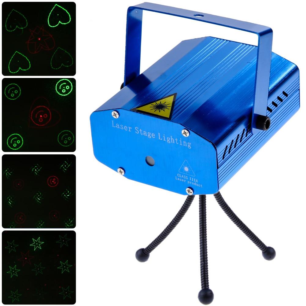 Stage Laser Light DJ Club Disco Projector Stage Laser Light Green Red Music Control Function AC 110-240V EU US Plug