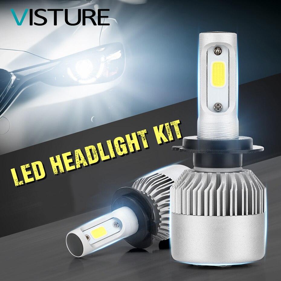 10pair per lot Car Lights Bulbs Mini LED H4 H7 H11 LED H1 H8 H9 9005 9006 H13 9004 9007 Auto Headlights 12V Led Light Visture M1