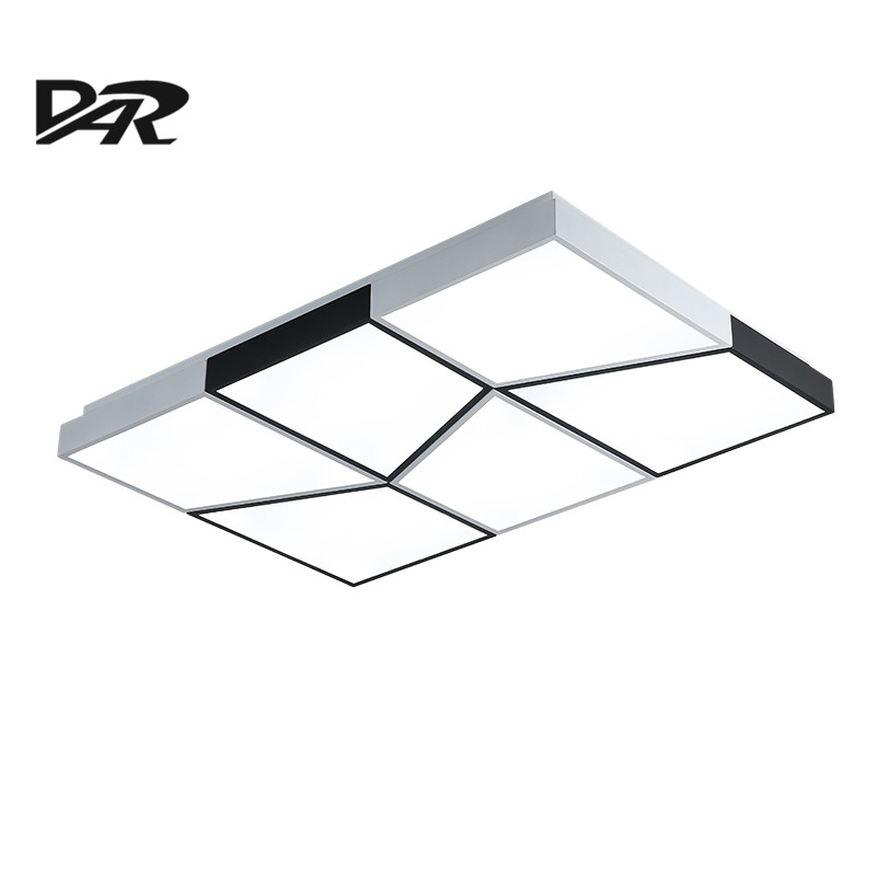 Minimalist Black&White Ceiling Lamp led Square Remote Control Dimmable Modern Lustre Led Ceiling Lights For Living Room Bedroom modern metal led dimmable white black square lamp for bedroom corridor living room ceiling lamp