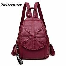 Betterance Мода Досуг женщины искусственная кожа рюкзак дамы необычные  рюкзаки школьные сумки для женщин 2018 mochilas 1d30042a98b