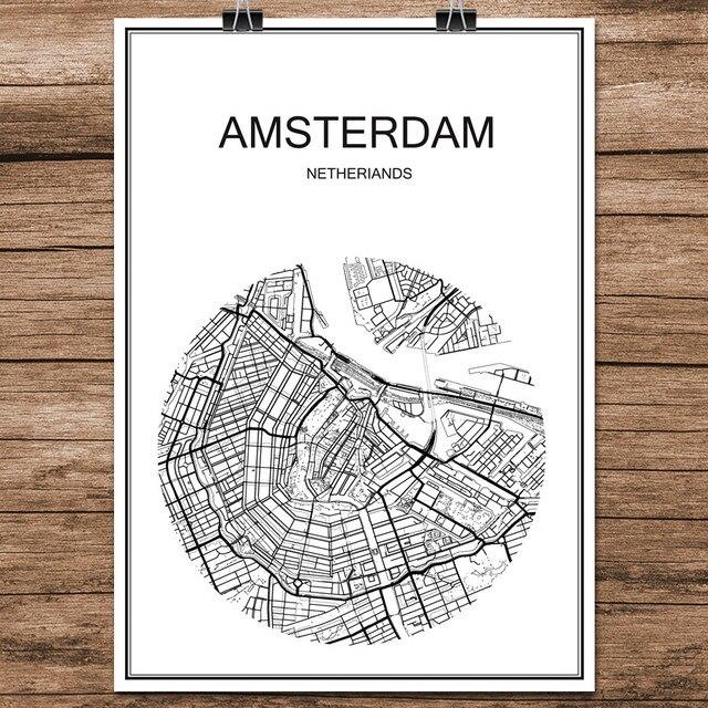 Niederlande Karte Welt.Us 1 99 Welt Stadtstrasse Karte Amsterdam Niederlande Druck Poster Abstrakt Beschichtetes Papier Bar Pub Wohnzimmer Dekoration Wandaufkleber In Welt