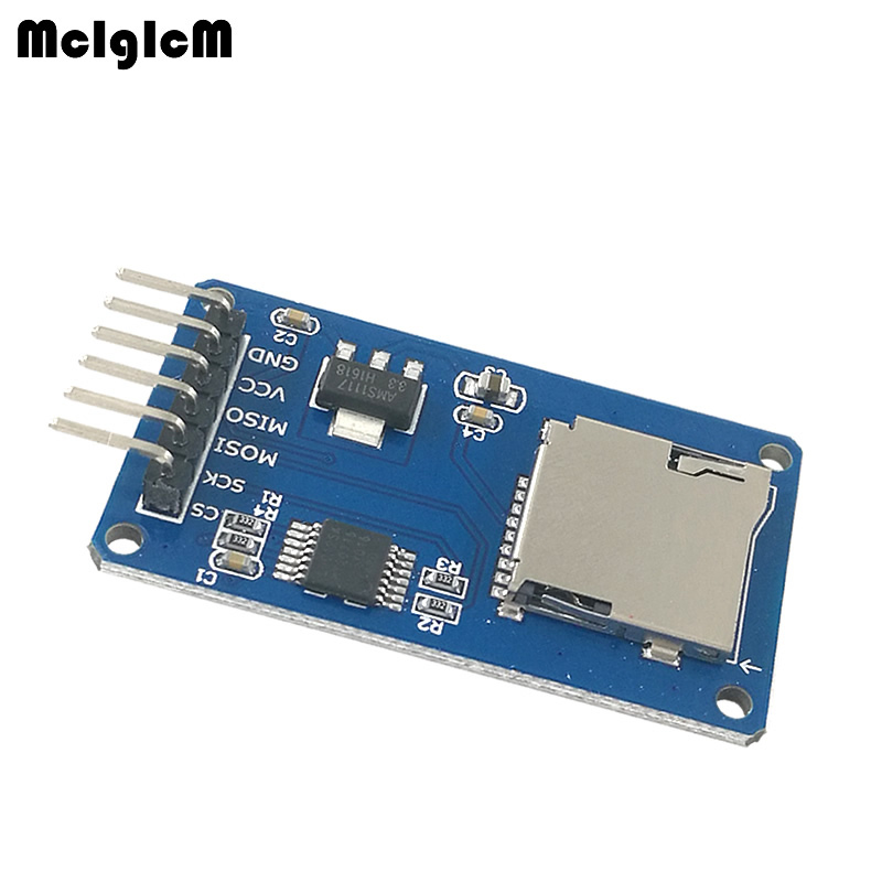 MCIGICM SPI Micro SD Storage Mciro SD TF Card Memory  Shield Module-in Integrated Circuits from Electronic Components & Supplies