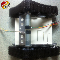 Wall E Triangle Tank Smart Car Chassis Creeper Truck Tracked Cars High Torque Motors And Hall