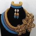 Sistemas de La Joyería Collar de la Declaración africana Beads Nigerianos Joyería de la Boda Nupcial de La Joyería de Dubai Envío Libre WA604