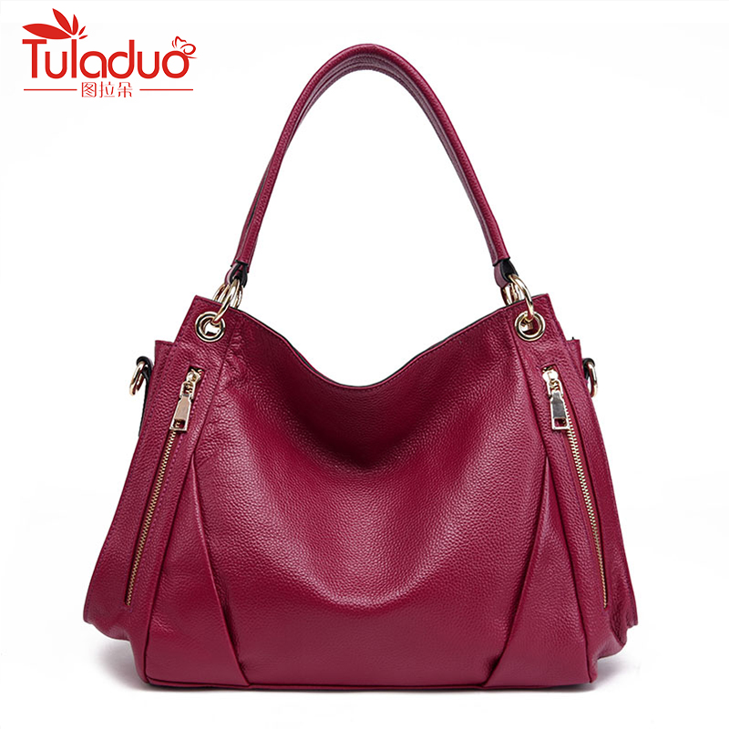 2018 New Arrive Designer Double Zipper Women Shoulder Bags High Quality Female Bag Large Capacity Genuine Leather Women Handbags authentic polo golf double clothing shoes bags mens golf apparel travel bag bolsas zapatos double garment high capacity package