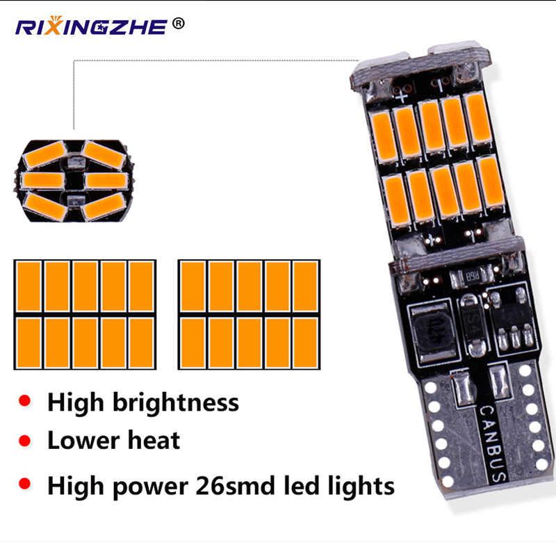 RXZ t10 w5w canbus, luz interior de coche 194 501 led 26 4014 instrumento SMD, Bombilla, luz de techo, sin error, 12V 6000K