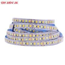 Tira de luz de led, 5m cor dupla cri> 80 smd2835 cct regulável 12v 24v dc ww cw fita ajustável flexível da fita do diodo emissor de luz da temperatura da cor