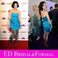Katy Perry Dress Glamour Awards 2009 Red Carpet Celebrity vestido azul corto Homecoming Cocktail graduación vestido