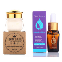 Dimollaure herbal whitening cream +Hyaluronic Acid serum Moisturizers melasma speckle sunburn pigment Melanin face care cream dimollaure herbal whitening cream kojic acid serum remove melasma freckle speckle sunburn spots pigment melanin acne face crea