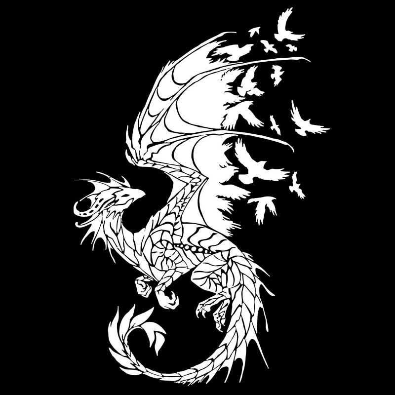 Image 2 - 11.7cm*17.2cm Dragon Birds Creative Car Sticker Motorcycle Decal Black/Silver S3 5799-in Car Stickers from Automobiles & Motorcycles