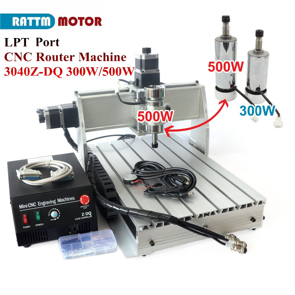 RU/EU Stock & Free VAT!!!Desktop type 300W/500W 3 axis 3040Z-DQ CNC ROUTER ENGRAVING DRILLING 1204 Ball screw Parallel/USB Port wood cnc router 3040z dq mill frame aluminum table alloy engraving machine part